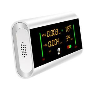 Indoor Air Quality Monitor Temperature Humidity Tvoc Formaldehyde Meter Lcd