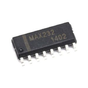 10x Max232 Dual channel Rs 232 Interface Ic dual Transceiver Smd Sop 16 232 New