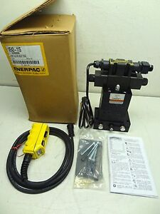 Enerpac Ve43 115 4 way Electric Hydraulic Valve W Pendant Directional 10000psi