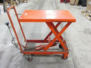 Northern Industrial Tools Hydraulic Scissor Lift Table Die Cart 700 Lb Capacity
