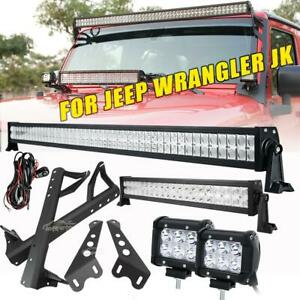 52 22 4 18w Led Light Bar mount Brackets Kit For Jeep Wrangler Jk Rubicon