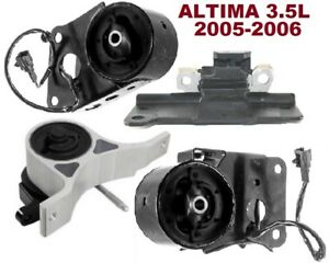 9m1308 4pc Motor Mounts Fit 3 5l Engine 2005 2006 Nissan Altima Maxima A T Trans