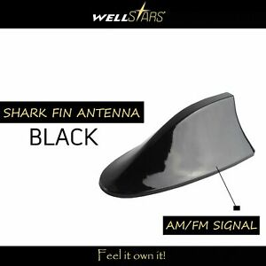 Automotive Shark Fin Antenna Black Signal Am Fm Radio Roof For 2008 Chrysler 300