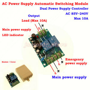 Ac 110v 220v 230v 10a Dual Power Supply Automatic Switching Controller Module