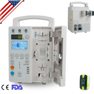 Infusion Pump Iv Fluid Machine Voice Alarm Lcd Monitor Ce Human vet Us Ship