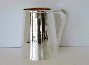 Italian 925 Sterling Silver Gold Plated Handcrafted Hammered Wash Cup 00840 1