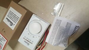 New Robertshaw Line Voltage Thermostat M602 25 Double Line Break Thermometer 802