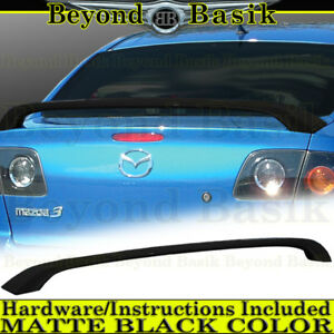 2004 2009 Mazda 3 Matte Black 2 Leg Factory Style Spoiler Rear Trunk Wing