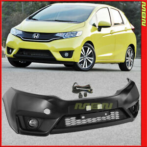 Factory Style Front Bumper 15 17 For Honda Fit Kit Lower Grille Fog Lamp