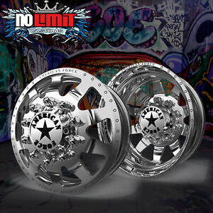 American Force Independence 22 Dually Truck Wheels Rims Chevy Gmc
