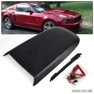 Fit For Ford Mustang Gt V8 2005 09 Black Front Racing Style Air Vent Hood Scoop Fits 2005 Ford Mustang