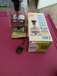 Vintage Bostitch Regal 607 Six Wheel Numbering Machine W ink Bottle