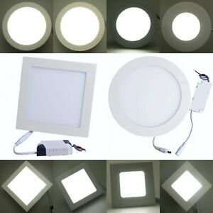 3 18w Led Panel Dimmable Round Square Recessed Down Light Ceiling Fixtures Mx