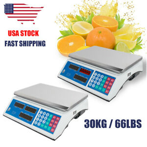 Lot 2 Electronic Counting Digital Computing Food Meat Price Weight Deli Scale
