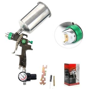 1 3mm Gravity Feed Spray Gun Hvlp Air Sprayer Kit Auto Paint Basecoat Clearcoat