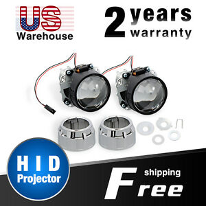 Hid Projector 2pcs Nilight 2 5 Mini Bixenon Lens Conversion Kit For H1 Bulb