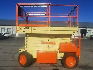 Electric Scissor Lift 3969 39 Feet H X 69 Inches W Foam Filled Tires