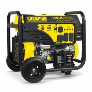 100110 9200 11 500w Champion Electric Start Portable Gas Generator