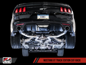 Awe 2015 2017 Ford Mustang Gt Fastback 5 0l Track Exhaust System With Black Tips