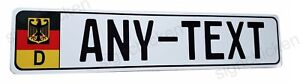 Euro Style Tag Bmw European License Plate Any Text Custom German