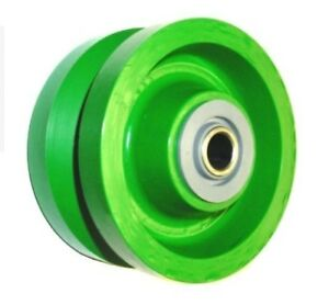 V groove Wheel Solid Polyurethane 5 X 2 With 5 8 Id Steel Roller Bearing