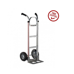 Magliner Double Grip Handle 14 Nose 10 Pneumatic Tire Hand Truck 500 500 Lb