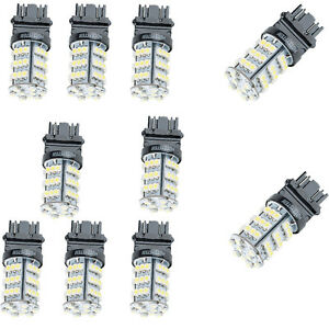 10x 3156 3157 6000k Xenon White Backup Reverse Tail 54smd Led Light Bulb