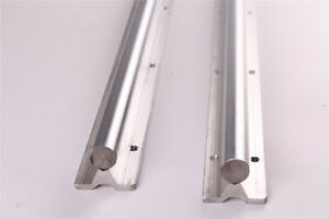 2pcs Sbr20 1000mm Long Linear Bearing Rail Linear Bearing Slide Silver Us