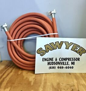 Compressor Hose Air Jackhammer Rubber 3 4 Universal Chicago 50 Couplings