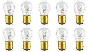 10x 1034 1157 24v Bay15d Clear Bulb Dual Element Tail Signal Brake Light Bulbs