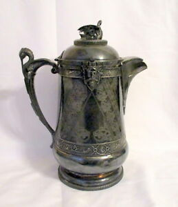 Magnificent Victorian Silverplate Water Pitcher By A Ledig Son Philadelphia