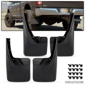 For 09 18 Dodge Ram 1500 2500 3500 Front Rear Splash Guards Mud Flaps