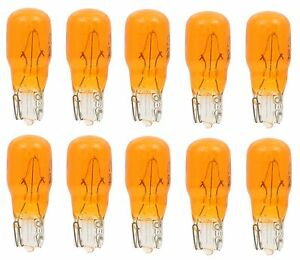 10x 24 Amber Miniature Instrument Panel Cluster Dash Speedometer Light Bulb 24na