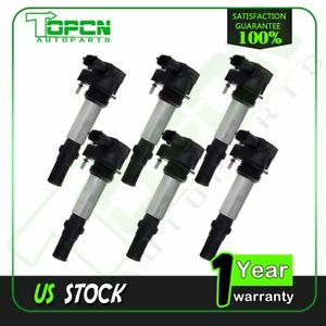 Ignition Coils Pack Of 6 For 08 09 Chevrolet Traverse Vectra 2 8l 3 6l V6 Uf375