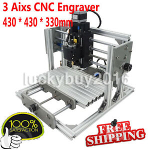 Mini Diy Cnc 2417 Mill Router Kit Usb Desktop Metal Engraver Pcb Milling Machine