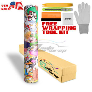 premium Sticker Bomb Vinyl Wrap Decal Film Graffiti Cartoon Jdm Usdm Diy 206