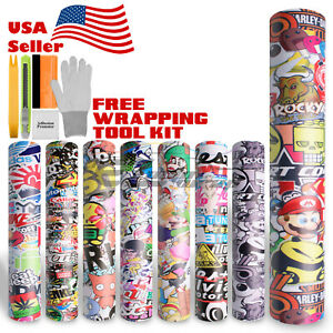 Sticker Bomb Vinyl Wrap Decal Film Graffiti Cartoon Anime Jdm Usdm Sheet Diy