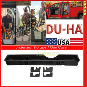 Du ha For 00 16 Ford F 250 550 Super Duty Supercab Black 20031 Underseat Storage