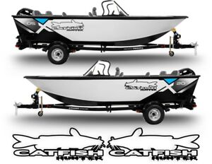 2 Catfish Hunter Decals Stickers Left Right Fish Rod Boat Lure Turbo Diesel