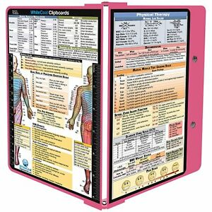 Whitecoat Clipboard Pink Physical Therapy Edition