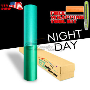 12 x48 Reflective Green Vinyl Wrap Sticker Decal Graphic Sign Adhesive Film