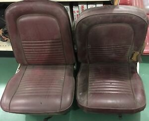 1964 1965 1966 1967 Ford Mustang Front Bucket Seats Right And Left