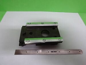Microscope Part Leitz Germany Ortholux Ii Rail For Nosepiece As Is Bin y4 06