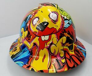 Full Brim Hard Hat Custom Hydro Dipped New Graffiti Extreme Killer Rabbit