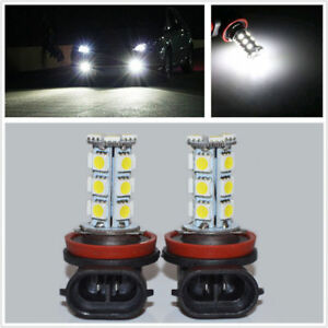 Universal Car 6000k H11 18 Smd 5050 Led Headlight Bulbs Driving Fog Backup Light