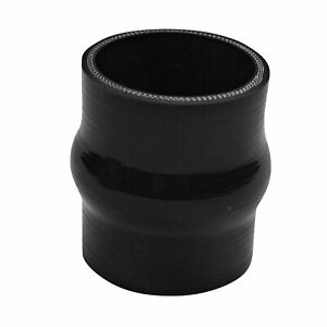 3 76mm Hump Straight Silicone Hose Intercooler Coupler Tube Pipe 4 Ply Black