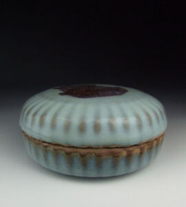 One Nice Chinese Antique Jun Ware Porcelain Ink Box