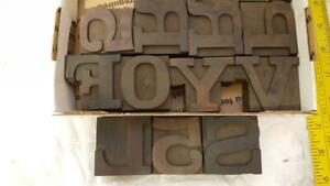 Antique Letterpress Wood Type Sorts 12 Line 2 Q87