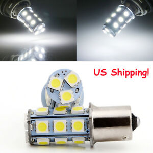 Us Stock 50pcs 1156 Ba15s 18smd 5050 Led Turn Signal Backup Reverse Light Bulbs