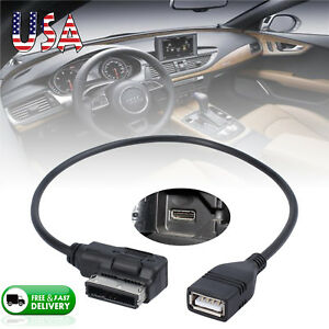 Ami Mdi Mmi Music Interface To Usb Cable Data Sync Charging Adapter For Audi Vw